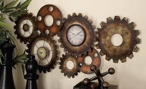 Image of: Steampunk Wall Clock Diy