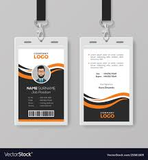 Business Id Template Creative Modern Id Card Template With Orange