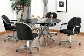 kitchen table chairs with wheels dining chairs with casters blog kitchen table chairs wheels