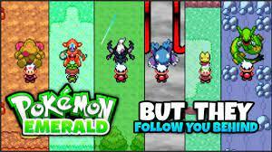 Pokemon Emerald BUT Pokemon FOLLOWS YOU! || Gba Rom Hack |