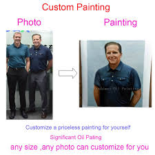 hand painted custom portrait painting customized oil painting reion canvas pictures 100 handmade from photos