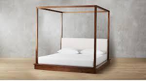 Bali Wood Canopy Bed King + Reviews | CB2