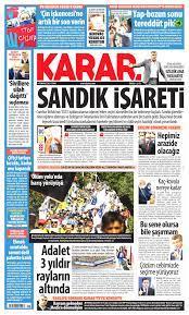 Karar Gazetesi - Karar Manşet Oku - Haberler 09 Temmuz 2021