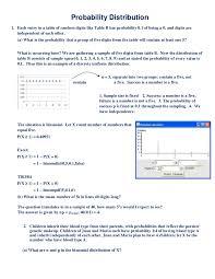 probability distribution homework help