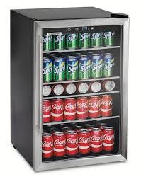 upc mini fridge glass door beverage cooler wine compact refrigera freestanding inch black stainless front