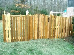 wood picket fence gate. French Gothic Fence Pickets Panel Cedar Spaced Picket Concave Dip Wood Gate
