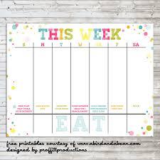 Printable Weekly Calendar Weekly Calendar Printable Kids Rudycobynet 19