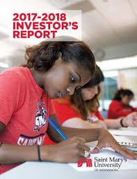 Saint Mary's University of Minnesota Investor's Report 2017-2018 by Saint  Mary's University - issuu