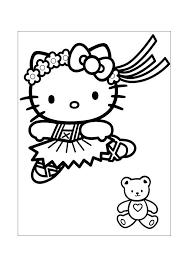 Hello Kitty Dansen Hello Kitty Kleurplaten Kleurplaatcom
