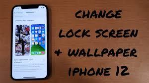 change wallpaper/ lock screen iphone 12 ...