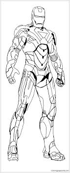 Iron man is a comic book superhero created in 1963 by stan lee for marvel comics. Heroes Iron Man Coloring Page Free Coloring Pages Online