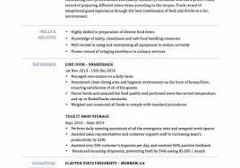 Cv For Cook Position Chef Resume Objective Examples Cover Letter
