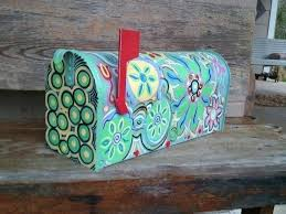 painted mailbox designs. Hand Painted Mailbox Fun Funky By On Designs .