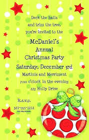 Christmas Gala Invitation Wording Business Party Invitation Business