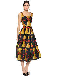 dolce gabbana spaghetti printed double organza dress multicolor se5bmji1 women clothing dolce and gabbana