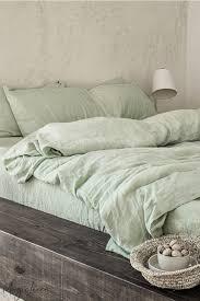sage green linen sheet set magiclinen