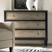 furniture restoration ideas. hooker furniture two tone aluminum wrap u0026 black 3 drawer chest dressers chests at restoration ideas