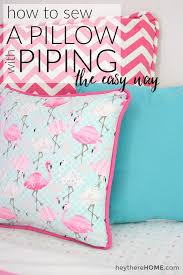 create a pillow. Simple Create How To Sew A Pillow Cover With Piping The Easy Way On Create A Pillow P
