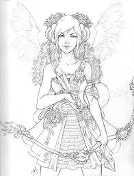Kleurplaat Vrouw Met Boog Coloring Fairy Coloring Pages Adult