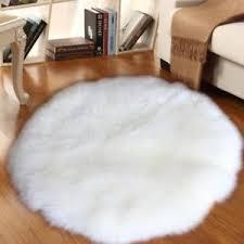 Image Is Loading FluffyFloorCarpetFauxFurSheepskinAreaRug Fur Chair Throw R72