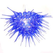 modern blown glass flower chandelier 10347