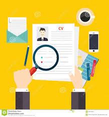 cv resume job interview concept writing a resume stock vector writing a resume