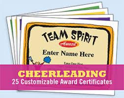 Cheerleading Certificates And Cheerleader Award Templates