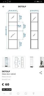 ikea detolf glass display cabinet for