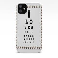 I Love Asl Eye Chart Iphone Case By Eloiseart