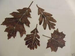 brown leaf metal wall art