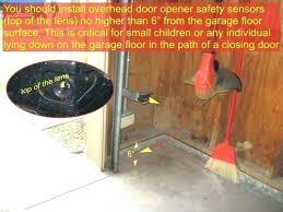 garage door opener safety sensor sensors installation height requirement liftmaster sen