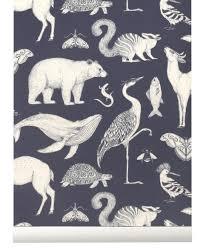 Ferm Living Wallpaper Katie Scott Dark Blue Bestel Online