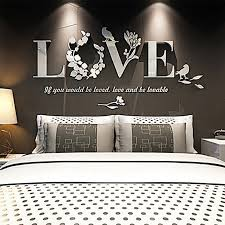 hot 3d mirror wall stickers e flower vase