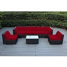 Amazon Ohana 7 Piece Outdoor Wicker Patio Furniture Sectional