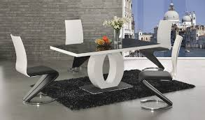 black glass white high gloss dining table 6 chairs