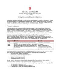 writing learning objectives writing measurable educational objectives