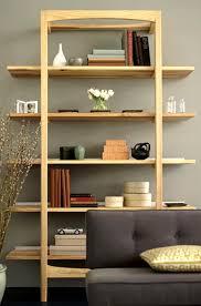 Furniture Modern Wood Office Furniture Leaning Shelves Storage