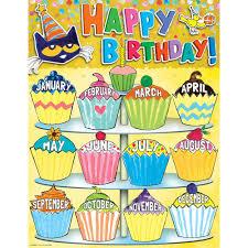 Happy Birthday Chart Decoration Pete The Cat Happy Birthday Chart