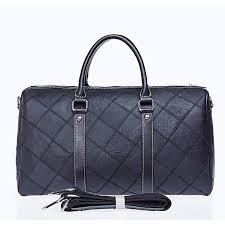 leather men travel bag large capacity travel duffel suit bag carrying men s bag 07 black