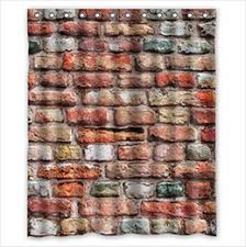 classic brick wall pattern stone and rock wall art polyester fabric custom home decor shower curtain 60 x 72  on rock wall art uk with shop rock wall art uk rock wall art free delivery to uk dhgate uk
