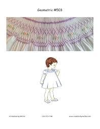 Free Printable Smocking Designs For Baby Dresses Printable Geometric Smocking Graph 503 Creations By