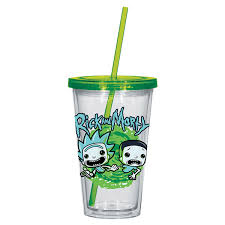 Rick and Morty - Logo Acrylic Cup with Straw - EB Games Australia