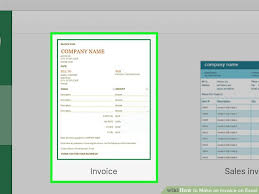 Create An Invoice In Excel Impressive 48 Ways To Make An Invoice On Excel WikiHow