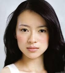 beautiful delicate asian face of zhang ziyi