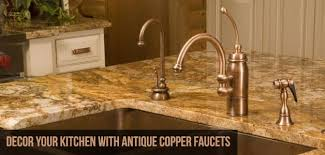 copper kitchen faucet. accord your kitchen an antique look with copper faucets faucet l