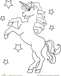 Small Picture Unicorn Worksheet Educationcom