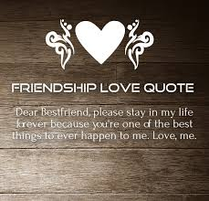 Love And Friendship Quotes Unique Friendship Love Quotes And Sayings For Him Her With Images