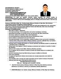 Demi Chef De Partie Resume Sample