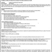 Logistics Officer Job Description Logistics Procurement Travel Clerk Tayoa Employment Portal 19