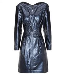 isabel marant algar metallic leather dress blue women isabel marant er isabel marant boots
